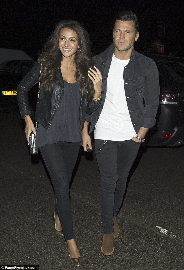 Reunited and it feels so good: Michelle Keegan and her husband-to-be Mark Wright seemed thrilled to be reunited after her Middle Eastern hen party as they enjoyed a Bank Holiday date night on Sunday