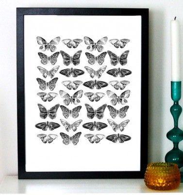 Affisch - Butterflies