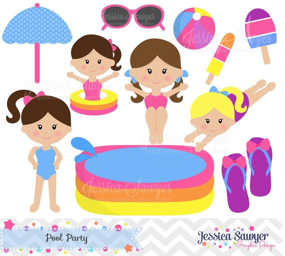 Swimming Pool Party Clip Art Pool Party Clip Art KidsKids Pool Clip Art