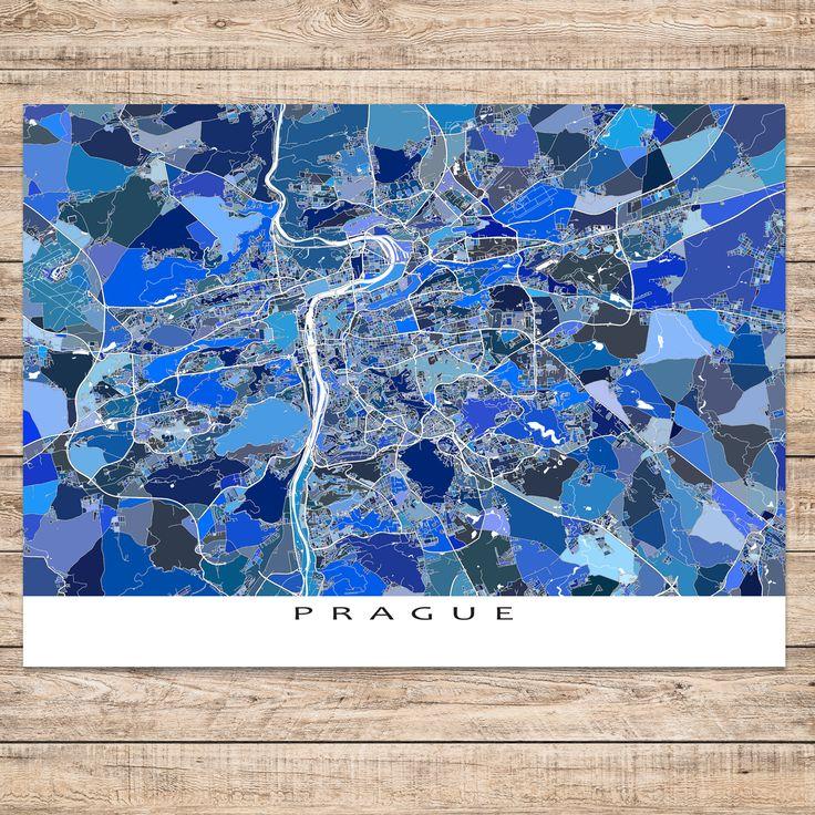 Prague Map Print Czech Republic 23 best