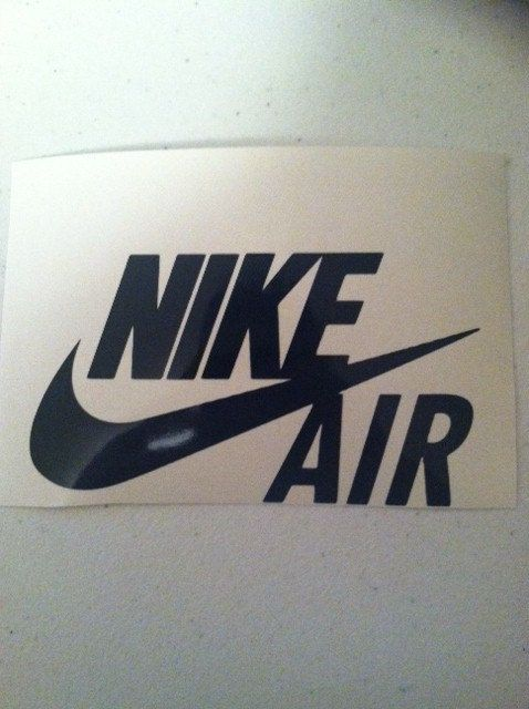 Nike Air Logo Decal By Supremecut On Etsy 5 00 Nike