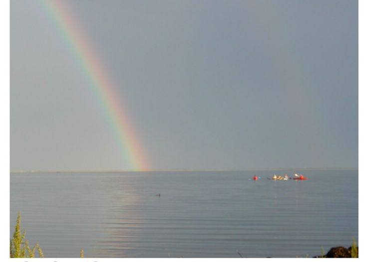 A rainbow after a storm. Beautiful view from The Dinghy Shop.