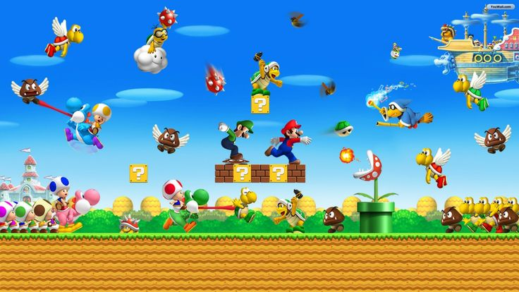 super mario desktop wallpaper | ... 2013 Filed under 1920x1080 Wallpapers , Other Wallpapers No Comments