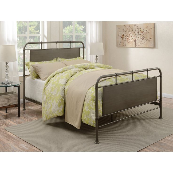 Right2Home Urban Industrial Panel Bed - Queen - DS-D040001-290