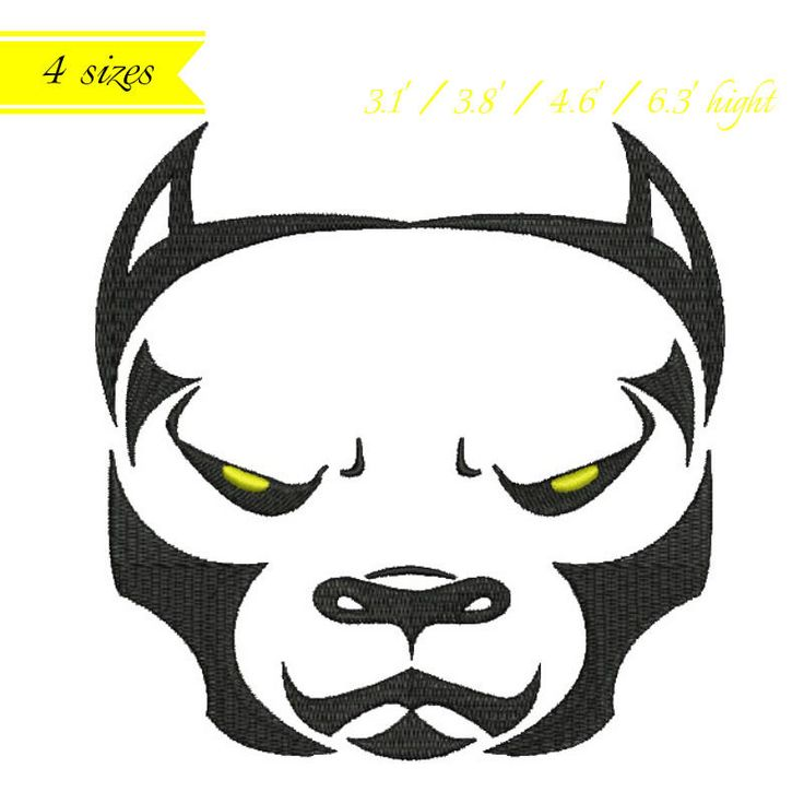 Pitbull Embroidery Machine Designs animal pattern digital instant design t-shirt towel dog designs hoop file by SvgEmbroideryDesign on Etsy