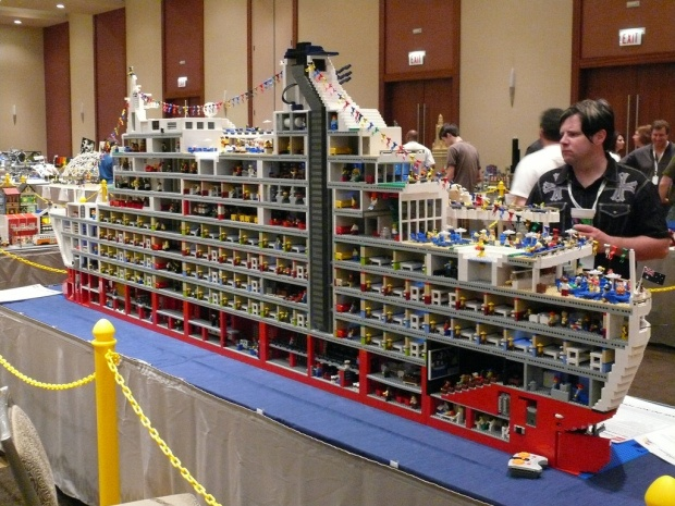 cross section of a cruise liner at #brickworld 2011