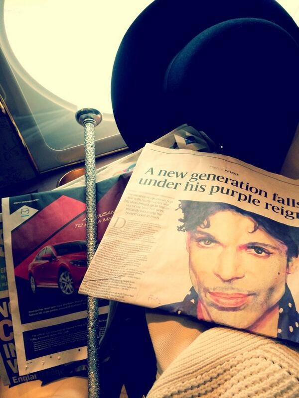 London Sunday Times with Prince story. A New Generation falls under his Purple Reign - Prince's Twitter