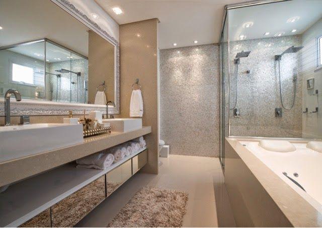 Banheiros Modernos Assim Eu Gosto : Home luxo decor inspira??o banheiro su?te master