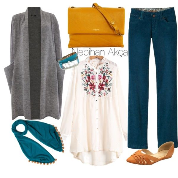 A fashion look from September 2015 featuring Crea Concept cardigans, prAna pants и miim flats. Browse and shop related looks.