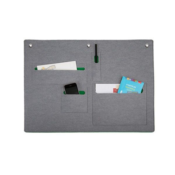 Felt WALLORGANIZER - Boogie Design  WALLORGANIZER will create additional space for storage above your desk. Different size pockets will organize small items