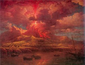 Vesuvius Erupting at Night 1768  William Marlow