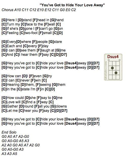 Awesome Easy Beatles Ukulele Chords Ideas - Chord Sites - creation ...