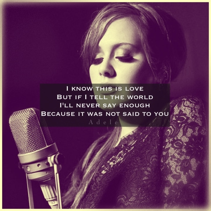 Best 25+ Adele chasing pavements lyrics ideas on Pinterest | Adele ...