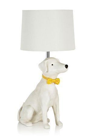 Bow Tie Dog Lamp by Next