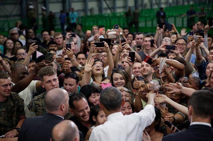 オバマ氏、岩国基地で演説 米兵や自衛隊員の活動をたたえる - 産経フォト #岩国基地 #オバマ大統領