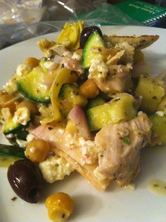 Greek Chicken and Pita Casserole | Food | Pinterest