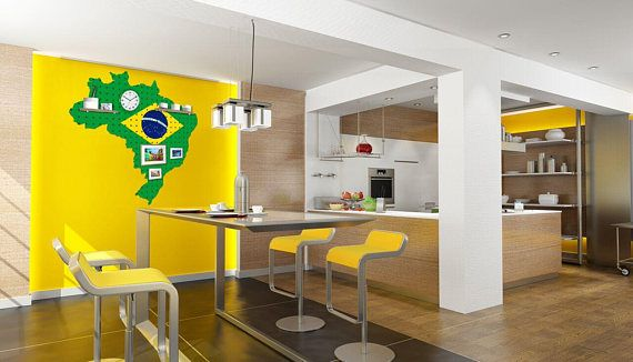 Peg Board, Peg Board Organizer, Peg Board Display, Brazil, Wall Storage, Brazil Peg Board, Wall Organizer, Brazil Inspired Home Decor