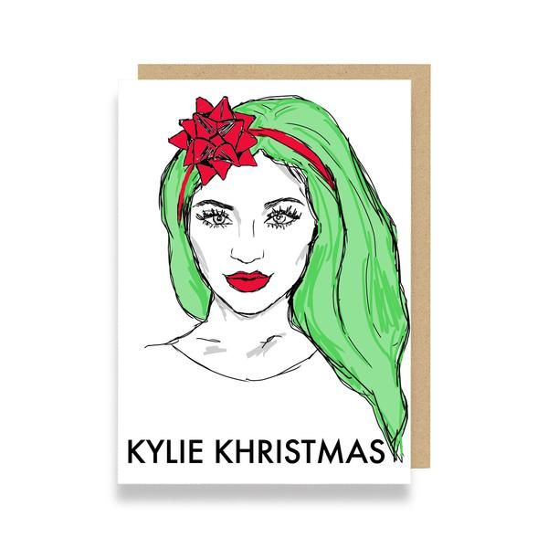 Funny Christmas Card featuring Kylie Jenner