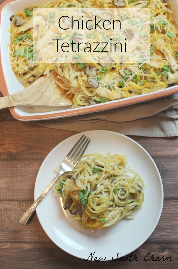 Chicken Tetrazzini cheesy and celicious. A perfect weeknight dinner. Great for feeding a crowd too.