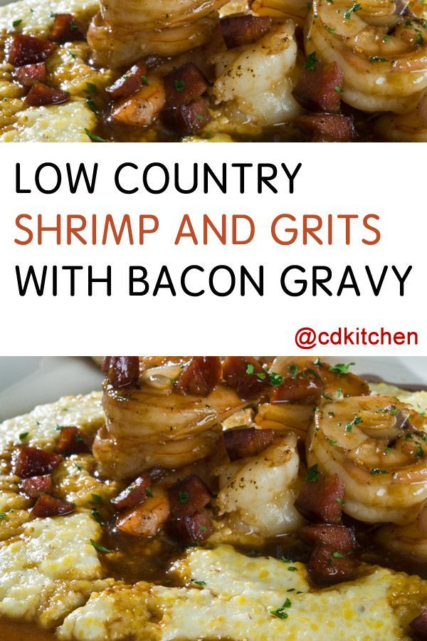 Made with creole spice, milk or heavy cream, flour, grits, heavy cream, chicken broth, shrimp, cheese, green onions, bacon, onion | CDKitchen.com