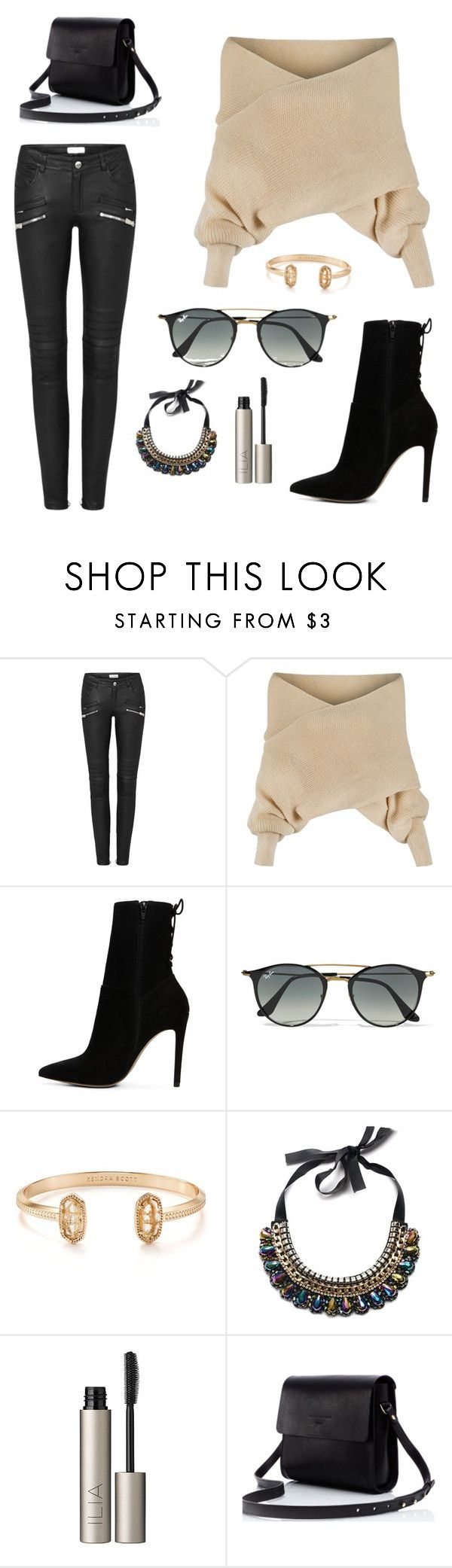 """""""Untitled #35"""" by kylie-cardinali on Polyvore featuring WithChic, ALDO, Ray-Ban, Kendra Scott and Ilia"""