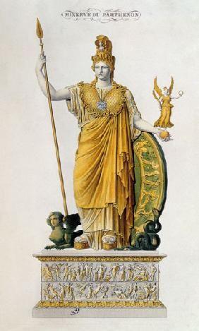 Illustrazione francese dell'Athena Parthenos che stava nel Partenone