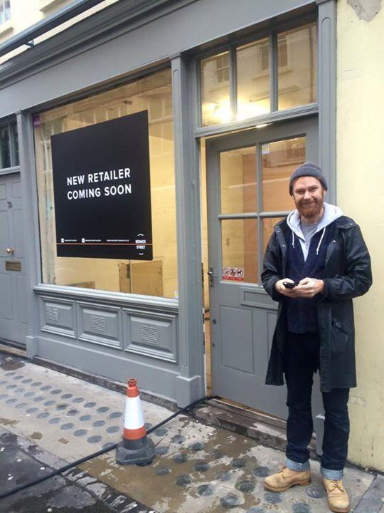 And here he is! Site visit @ Berwick Street in London with Anton Sandqvist. #retail #sandqvist #dawnofideas