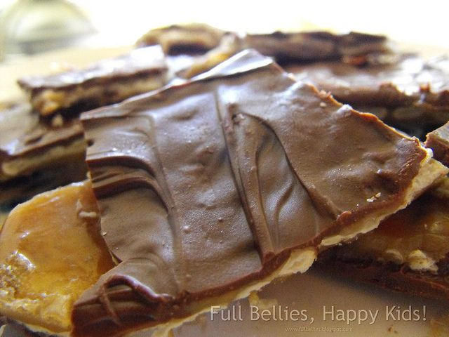 Trisha Yearwood's Crack Recipe made with Saltines, brown sugar, butter, and chocolate chips.