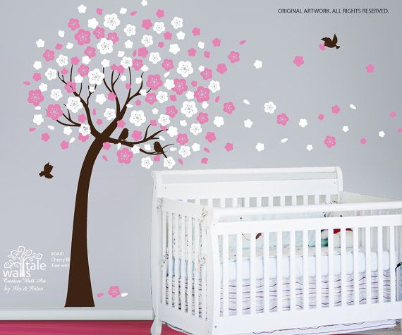 SALE  Cherry tree decals Cherry tree stickers by wallstaledecor, $79.00    TOTALLY buying this for Malia's room!! Love it and it's such a great price for such a big tree decal!