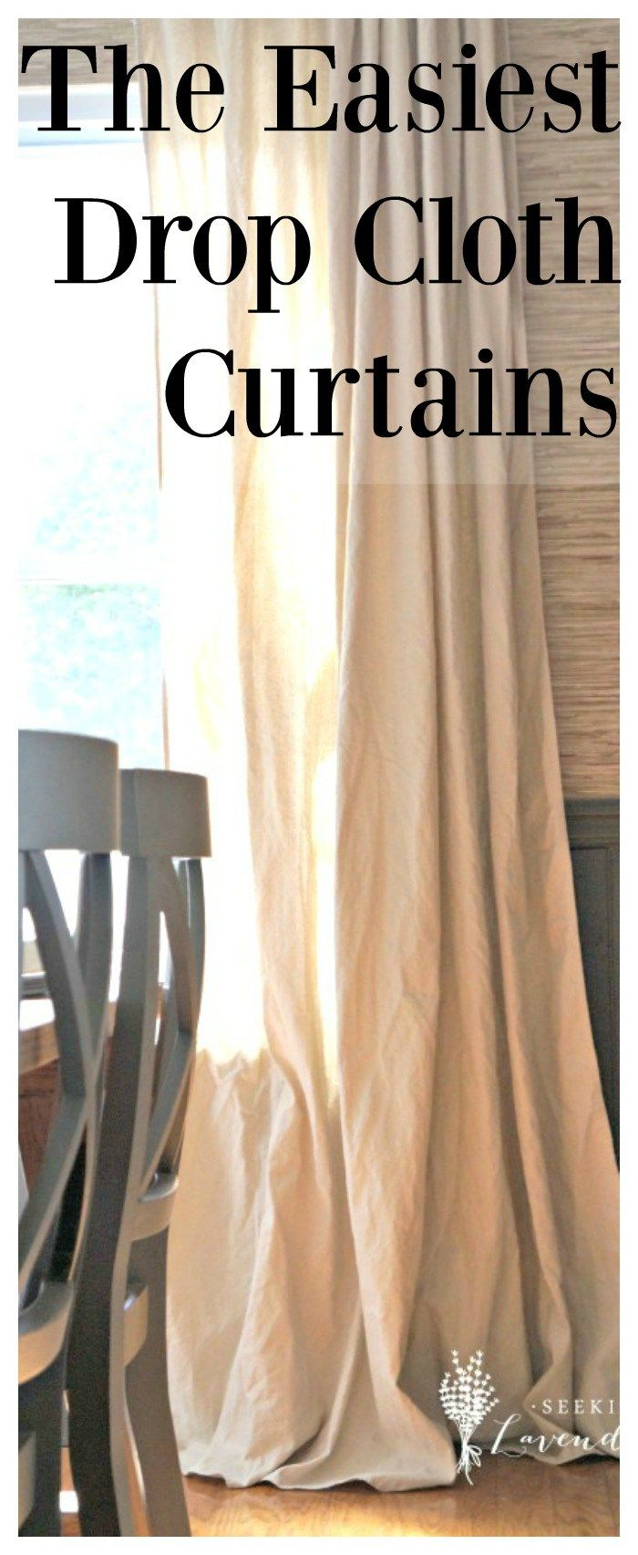 The Easiest Drop Cloth Curtains