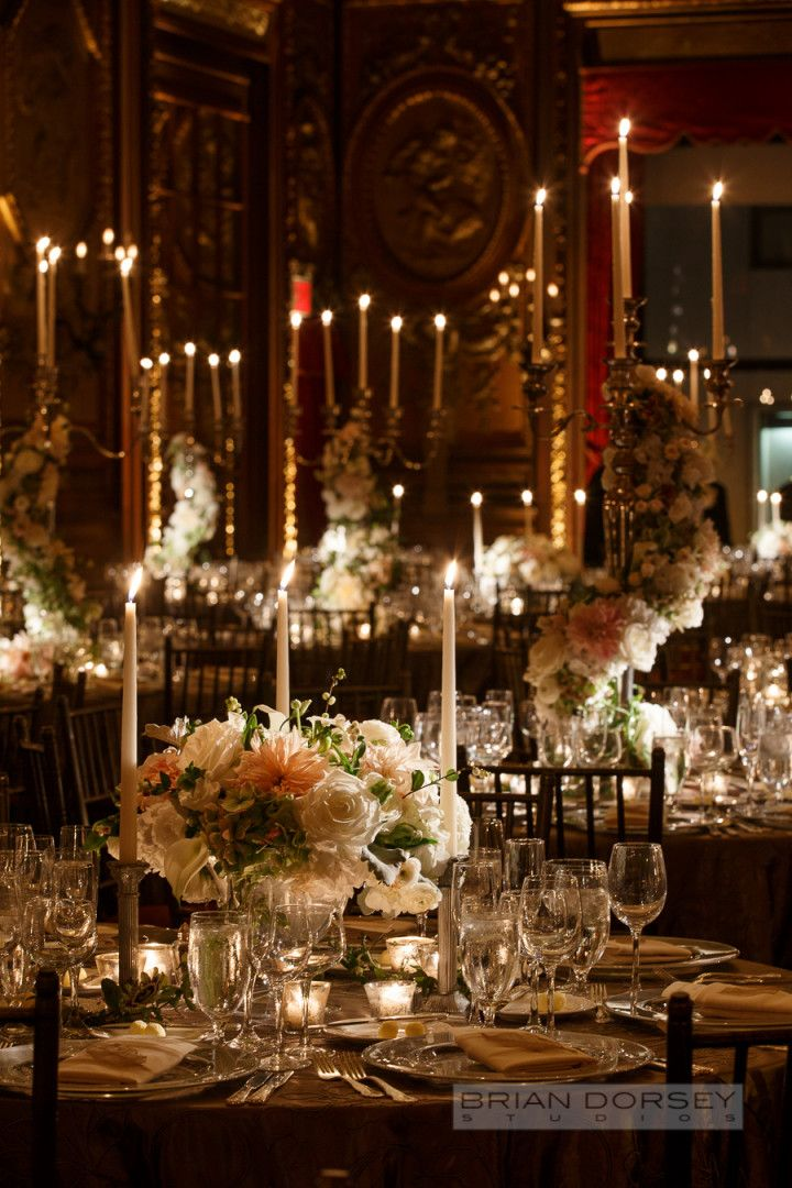 New York Wedding at the Metropolitan Club from Brian Dorsey Studios - classy wedding reception idea