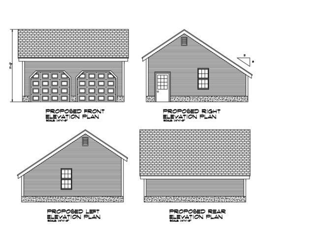 24x24 Garage Plan Salt Box Roof 24x24 Garage Print Blueprint Plan 17 2424sb Garage Plan Carriage House Plans Salt Box
