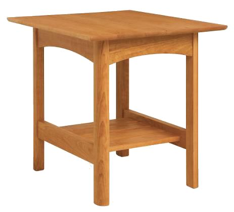 Modern Shaker End Table In Natural Cherry Wood This Living Room End Table Ha