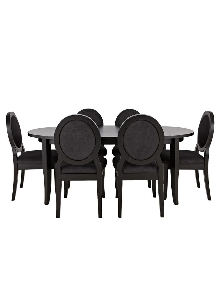 Laurence Llewelyn Bowen Maitre D Oval Dining Table And 6 Chairs Buy SAVE
