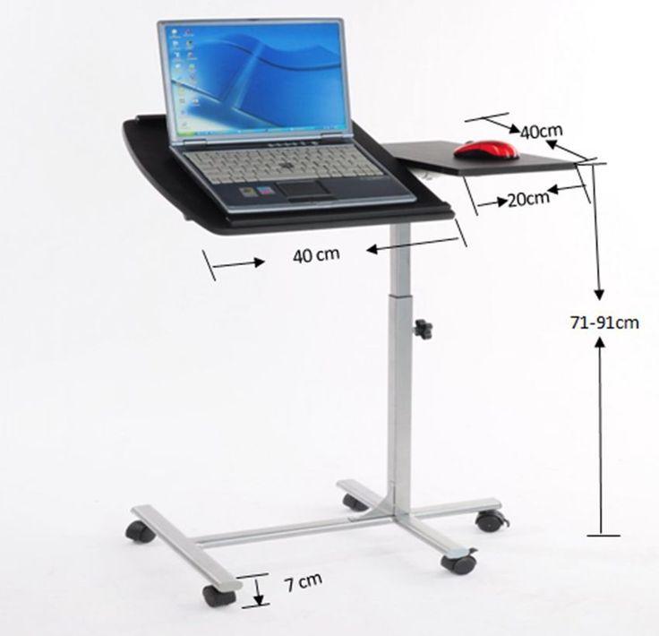 Modern Portable Computer Desk Laptop Tray Table Stand Bedroom Adjustable