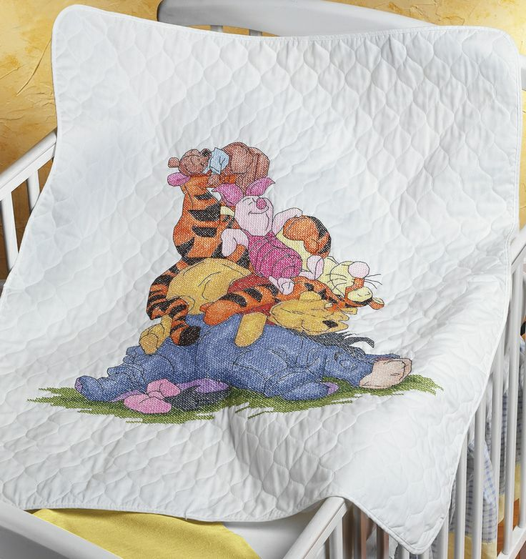 98 best pooh bear images on Pinterest | Cross stitch charts ... : stamped cross stitch baby quilts - Adamdwight.com