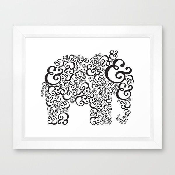 &Buy Ampersand, Carney Direction, Quality Frames, Ampersand Elephant, Elephant Frames, Frames Prints, Art Prints, Artists Stores, Frames Art
