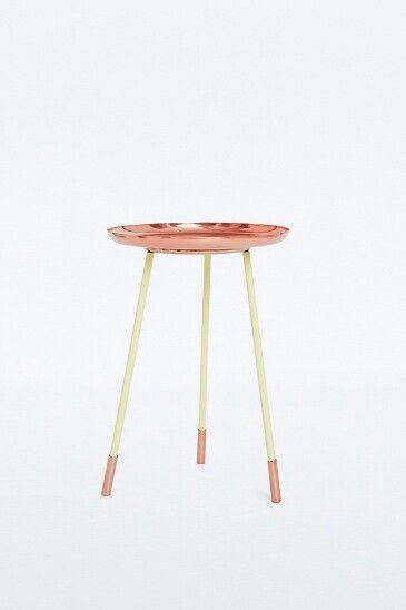 Urban outfitters copper side table - bed side table loft?