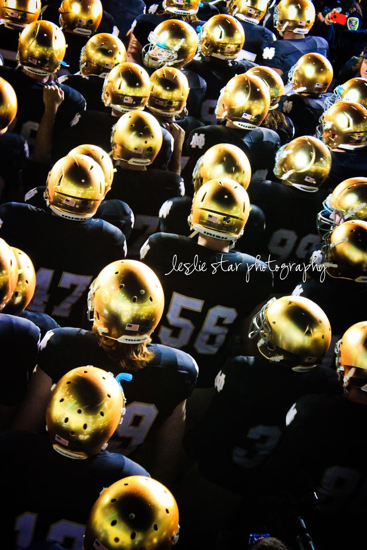 "10.23.11 The Notre Dame football team awaits in the tunnel, revealing their new golden helmets. Like the Irish?  Be sure to check out and ""LIKE"" my Facebook Page https://www.facebook.com/HereComestheIrish  Please be sure to upload and share any personal pictures of your Notre Dame experience with your fellow Irish fans!"