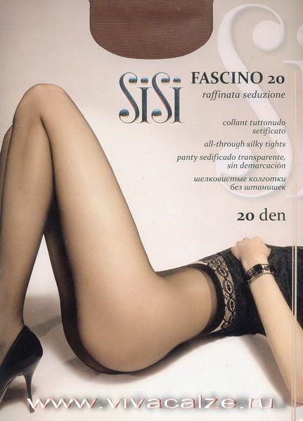 FASCINO 20 Тонкие прозрачные элегантные эластичные #колготки с LYCRA, однородные по всей длине (без шортиков), с ластовицей, формованной пяткой и прозрачным мыском.
