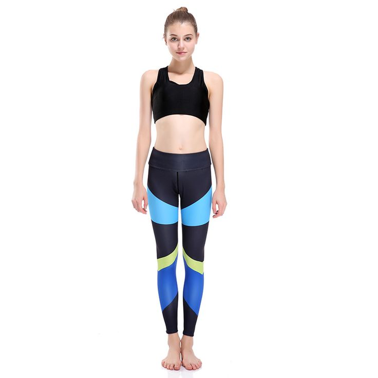 pattern stitching, ladies show thin movement, breathable sweat absorption nine points, yoga pants, female yoga-0109 #Affiliate