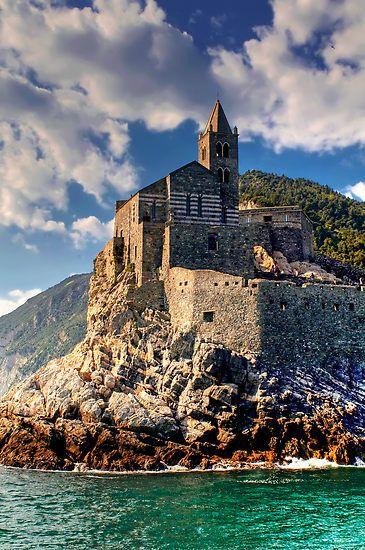 Portovenere, Italy.: Portovener Italy, Beautiful Italy, La Spezia, Portoven Italy, Porto Vener, Portovener Liguria Italy, San Pietro, Church In Italy, Italy Travel