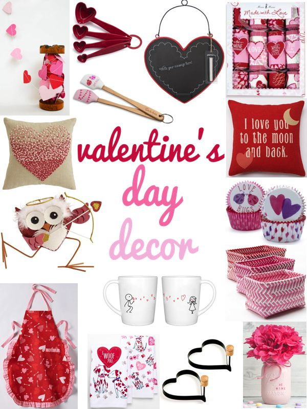 My dream? Making Valentine's Day treats in my heart apron using my heart measuring spoons and spatulas! How cute are all these holiday decorations?
