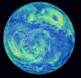 Mesmerizing Earth Wind Map Shows Real-Time Wind Conditions Around the World