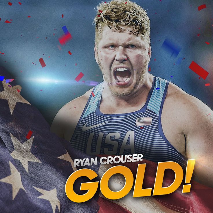 NBC Olympics @NBCOlympics  Aug 18 .@RCrouserThrows' Olympic Record in shot put brings home #GOLD for @TeamUSA! #USA
