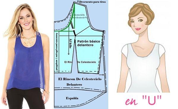 Escote en U. Desarrollo de modas