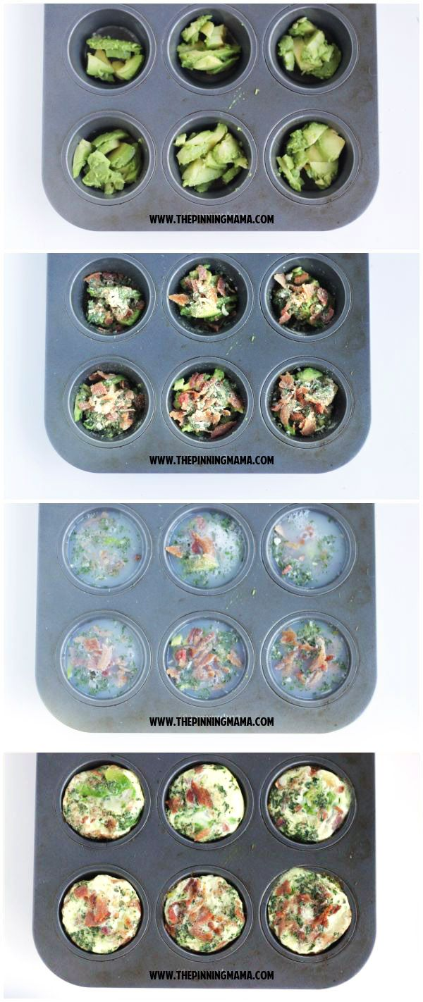 Bacon Avocado Ranch Egg Muffins- perfect easy and healthy breakfast on the go. Paleo, whole30 compliant, gluten free, dairy free AND freezer friendly recipe.  Does it get any better than this?!