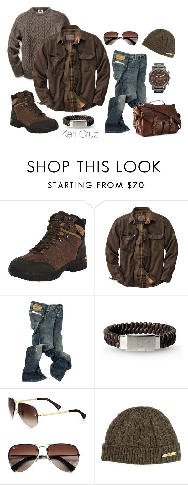 """""""Men's Winter Fashion"""" by keri-cruz ❤ liked on Polyvore featuring Vibram FiveFingers, Dolce&Gabbana, FOSSIL, Ray-Ban and Polo Ralph Lauren"""