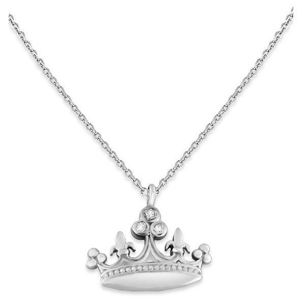 Brilliant by KC Designs 14K Gold and Diamond Crown Necklace ($225) ❤ liked on Polyvore featuring jewelry, necklaces, accessories, white, 14 karat gold necklace, 14k yellow gold necklace, gold chain necklace, white necklace and chain necklaces