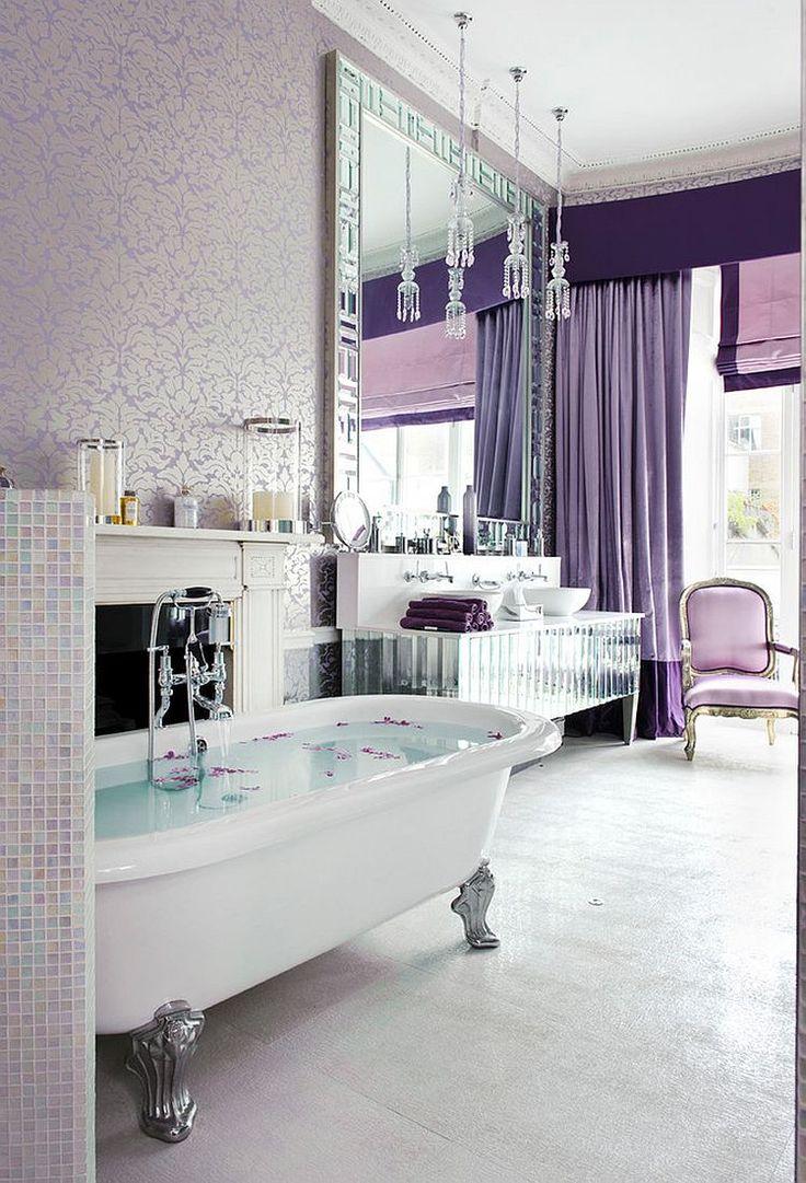 Purple bathroom color ideas - Luxurious Bathroom In Majestic Purple Is All About Glam Design Interior Desires Uk